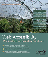 cover of Web Accessibility: Web Standards and Regulatory Compliance