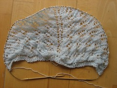 Fir Cone Triangular Shawl, 7th repetition