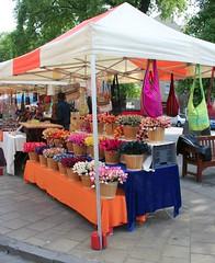 Bag stall at Edinburgh's French Market on Grassmarket