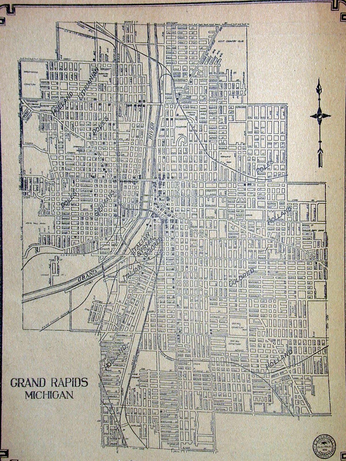 map of grand rapids. historical map of grand rapids  jim's brain online