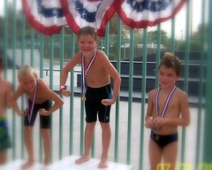 Gabe 1st in Diving Finals