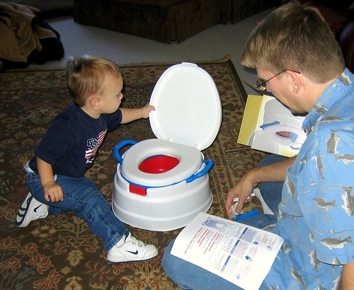 Toby and Dad and a New Toilet