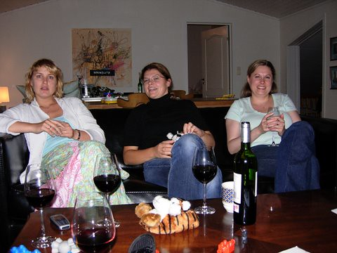 My sisters-in-law Mette and Elin and me
