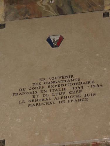 Italie- Rome- Eglise Saint Louis des Français Plaque mémoire des combattants de la 1ère Armée - CP : Etienne Jacheet