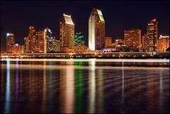 Light Streak across San Diego Bay photo by Dave Toussaint (www.photographersnature.com)