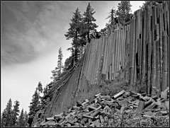 Devils Postpile CA bw photo by Feist, Michael - FunnyFence - catchthefuture