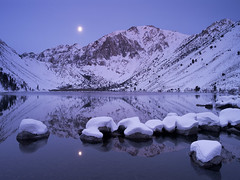 Blue Moon over Winter Lake (2011) photo by Hark Lee Photography