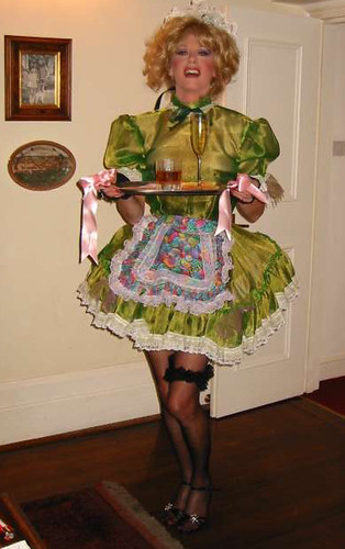 Tanya-Dawn as green Sissymaid photo by Tanya Dawn Hughes