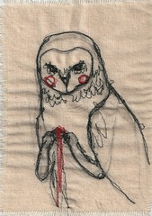 darning foot practice - owl photo by johnathan_roberts