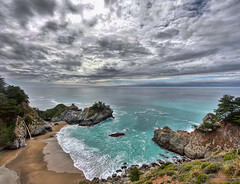 Julia Pfeiffer Burns State Park HDR Vertical Panorama photo by Dave Toussaint (www.photographersnature.com)