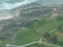 View of Torrey Pines Golf Course from the pilot's seat
