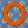 Fabric letter O