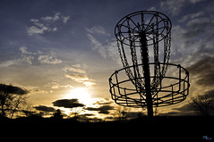 Disc Golf Basket photo by Nelson Horsley Photography