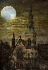 New York City  ~ NY  ~ Historical Church Manhattan~ Texture ~ Film 1990 photo by Onasill