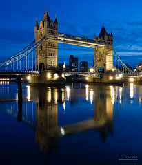 Tower Bridge, in reflection photo by cybertect