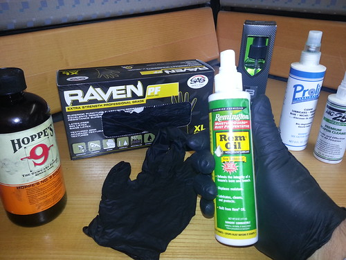 Safety Gloves will reloading and cleaning