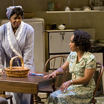 Cheryl Lynn Bruce (Elizabeth) and Wandachristine (Quillly) in THE OLD SETTLER at Writers Theatre. Photos by Michael Brosilow.