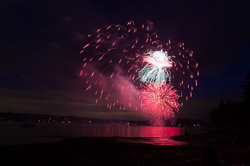 Fireworks in Quartermaster Harbor