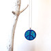Ibiza - Peace in Blue - Felted pendant