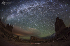 Milky Way Swirls Over Arches Park Avenue photo by Mike Berenson - Colorado Captures