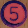 Colour Bingo pink number 5