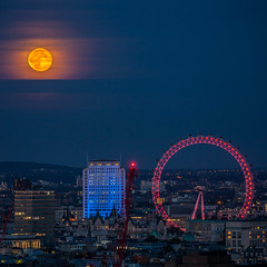 Moon rise over London's South Bank photo by London From The Rooftops