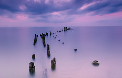 Evanston Pier - Long Exposure photo by ratulm