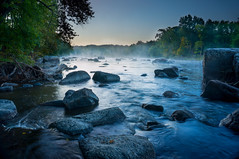 Mist on River photo by yogagi