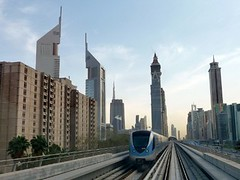 Dubai Metro, UAE - Futuristic driverless transportation amid skyscrapers, United Arab Emirates photo by Sir Francis Canker Photography ©