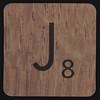 Scrabble Coaster Letter J