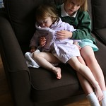 Giving Amy a cuddle<br/>16 May 2012