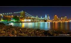 Brooklyn Bridge At Night photo by Kit Downey