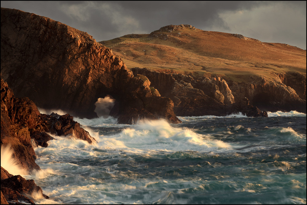 Sea Arch Strathy Point photo by angus clyne