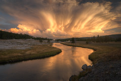 Firehole River, Yellowstone National Park HDR photo by Brandon Kopp