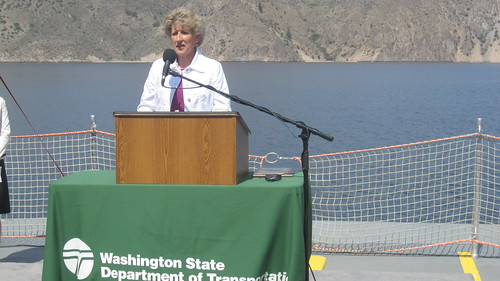 Rep. Shelly Short speaks at the launching of the new Keller Ferry - The Sanpoil