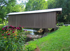 Jacks Creek Covered Bridge in Summer photo by tcpix