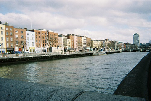 Looking down the Liffey