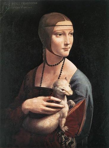 LEONARDO_ La dama del armiño hacia 1484