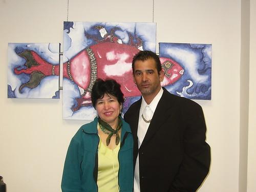 Artist Fernando Di Martino and exhibit curator Gloria Carrigg
