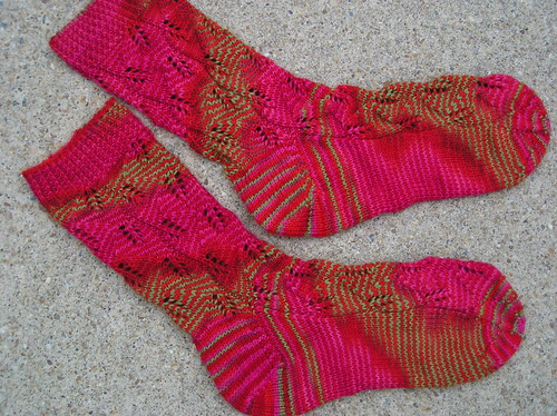 Embossed Leaves Socks - 1st pair