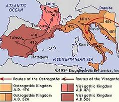 Peta Empayar Visigoths