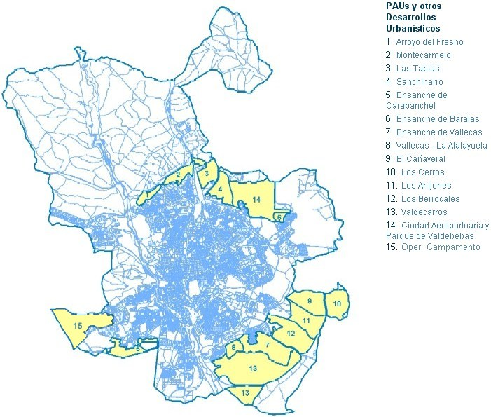 desarrollos urbanos madrid