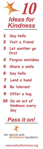 Ten Ideas for Kindness