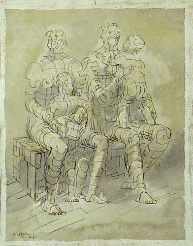 Family Group 1944 by Henry Moore, private collection, USA
