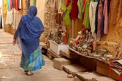 Woman Walking, Jaisalmer, Rajasthan, India Captured April 14, 2006.