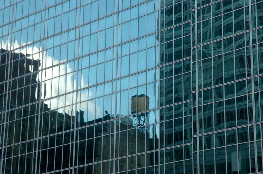 watertank reflections, nyc