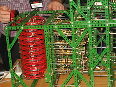 Meccano Difference Engine Closeup