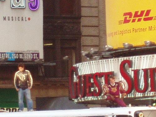 Time Square Stunt