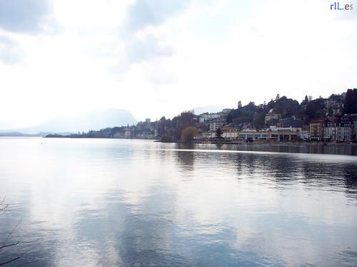 Postal del lago Neuchatel #2