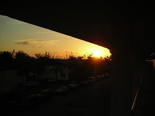 sunrise from my front door